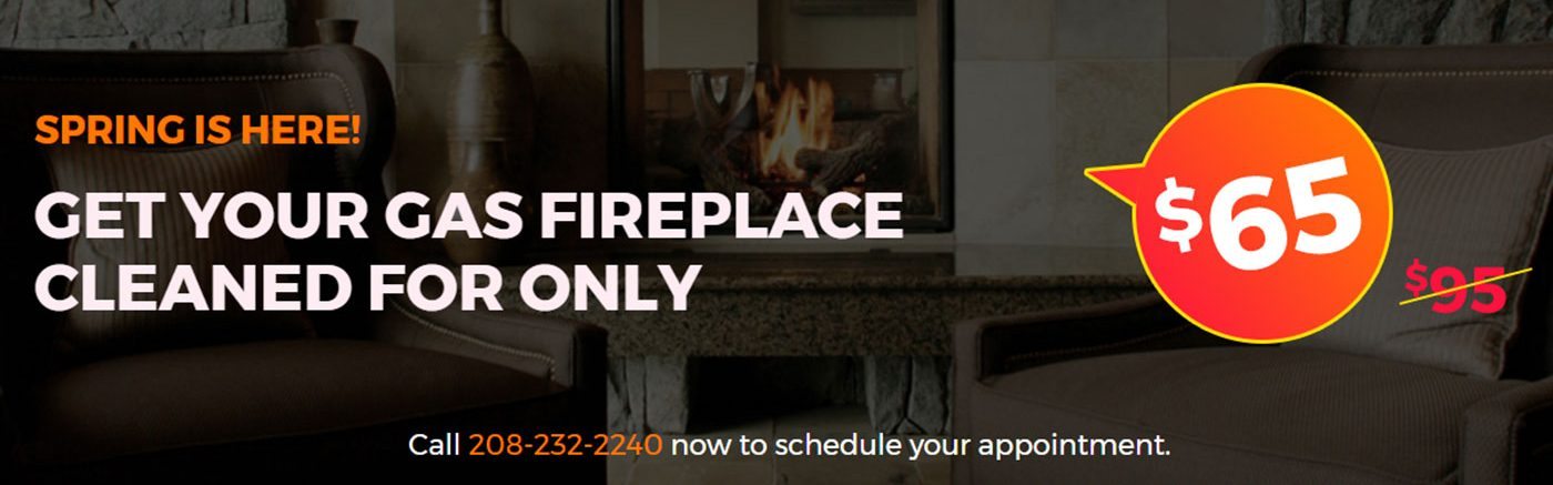 $65 gas fireplace cleaning special