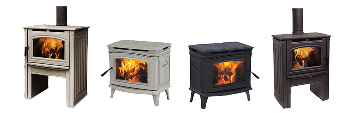 A variety of Wood Stoves